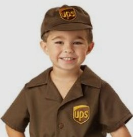 UPS Delivery Man Costume for Boys
