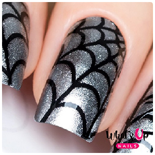 Halloween Nail Art with Decals and Stencils