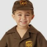 UPS Deliverly Man Costume for Boys (and Girls)