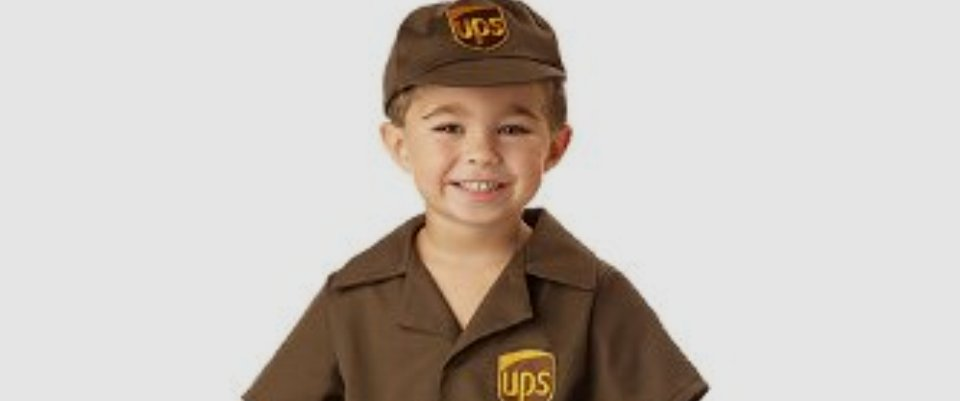 sc 1 st  Halloween Haven & UPS Delivery Man Costume for Boys