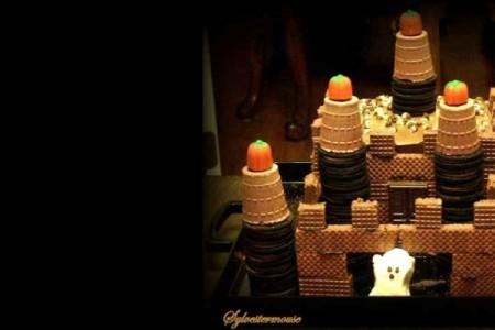 Halloween Ghost Castle Cake