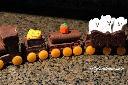 Halloween Ghost Train Cake