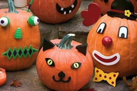 No Carve Halloween Pumpkins with Pumpkin Decorating Kits