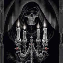 Halloween Candelabra Poster