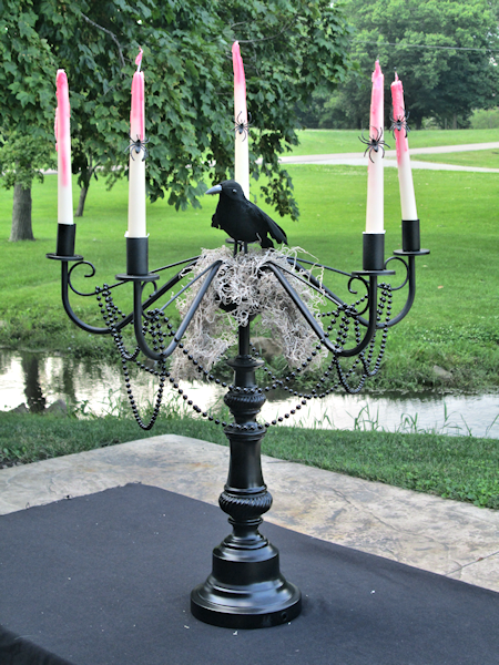 DIY Creepy Candelabra