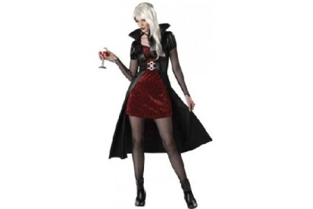Vampira Costume for the Female Halloween Vampire