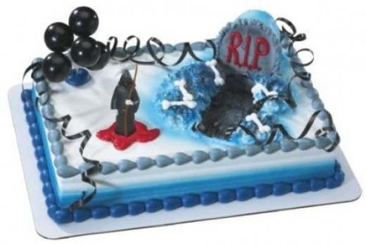 Decorated Grim Reaper Cake