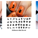 Halloween Nail Art with Decals, and Stencils