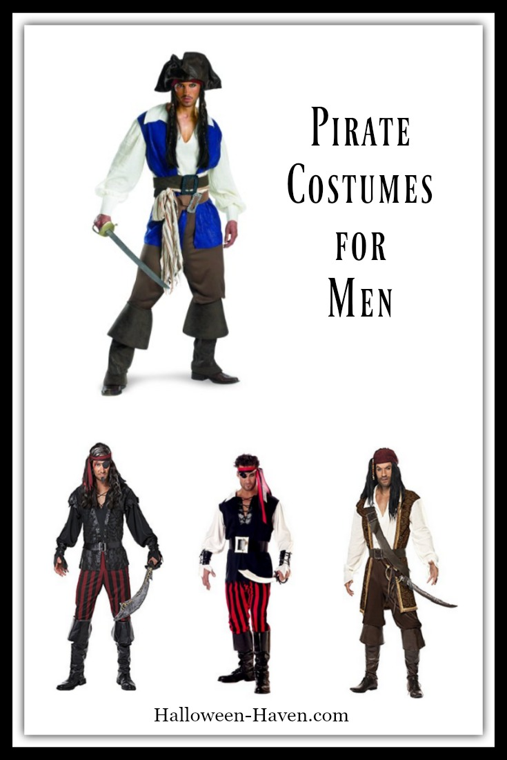 Swashbuckler Pirate Costumes for Men
