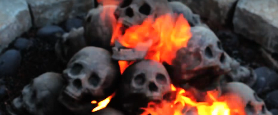 Ceramic Fireproof Skulls for Fire Pits & Fireplaces